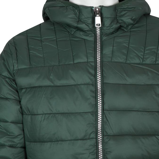 Pánská prošívaná bunda s kapucí bata, zelená, 979-7143 - 16