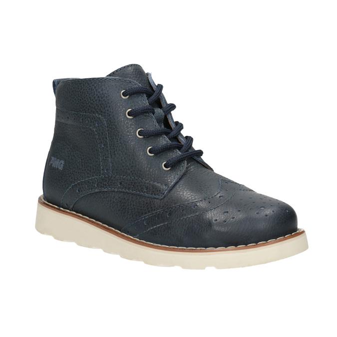 Dětská kotníčková obuv z kůže primigi, modrá, 314-9004 - 13