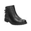Dívčí kotníčková obuv se třpytkami mini-b, černá, 391-6395 - 13