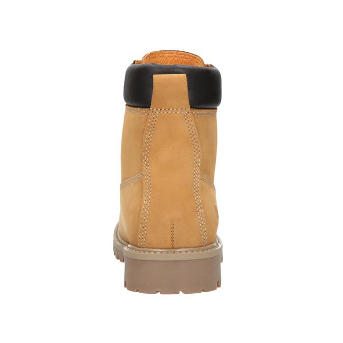 Kožená kotníčková obuv na výrazné podešvi weinbrenner, hnědá, 596-4664 - 16