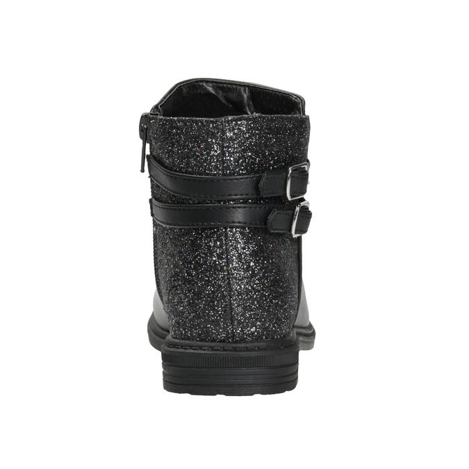 Dívčí kotníčková obuv se třpytkami mini-b, černá, 391-6395 - 16