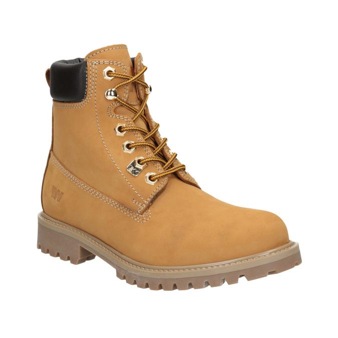 Kožená kotníčková obuv na výrazné podešvi weinbrenner, hnědá, 596-4664 - 13