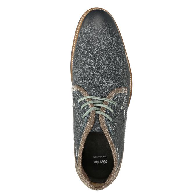 Pánská kožená kotníčková obuv bata, modrá, 826-9920 - 15