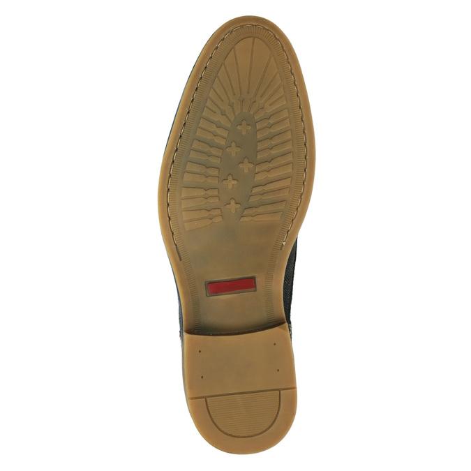Pánská kožená kotníčková obuv bata, modrá, 826-9920 - 17