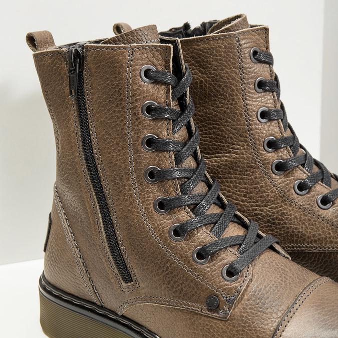 Kožená dámská kotníčková obuv bata, hnědá, 596-7681 - 14