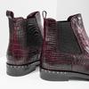Kožená dámská Chelsea obuv bata, červená, 596-5678 - 14