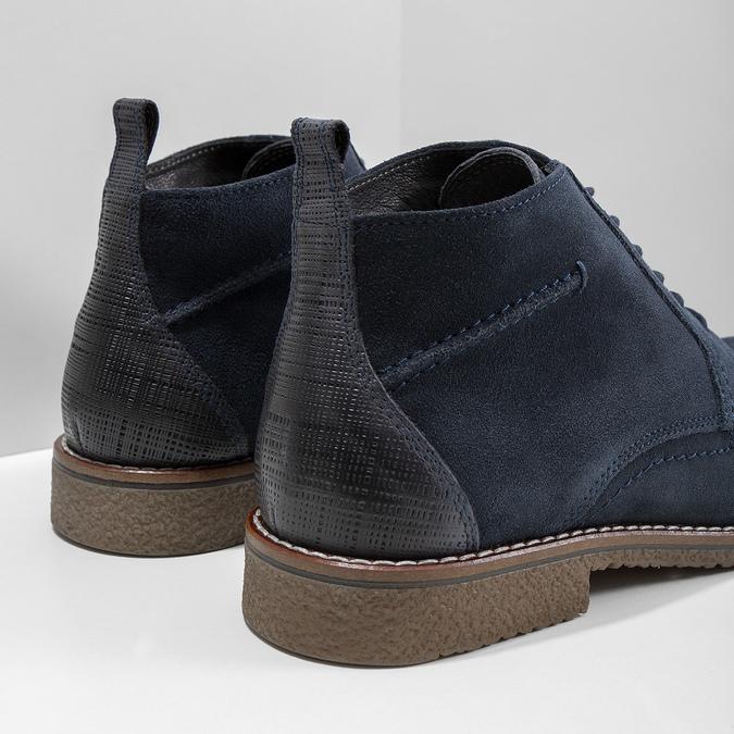 Modrá kotníčková obuv bata, modrá, 823-9615 - 14