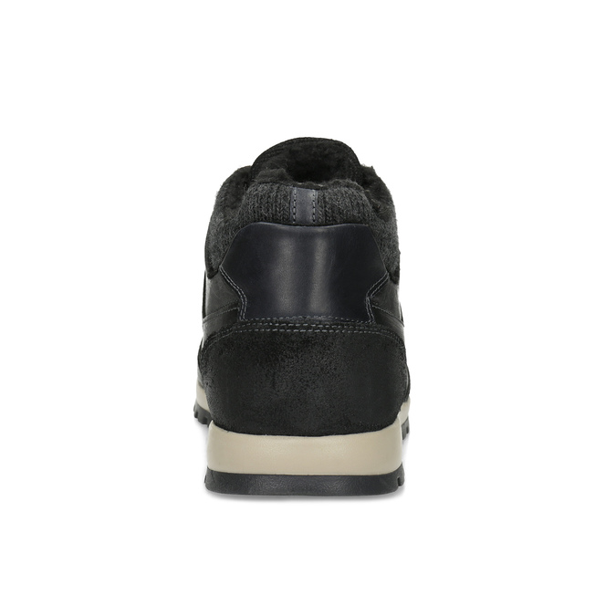 Pánské kožené tenisky se zateplením bata, černá, 846-6646 - 15