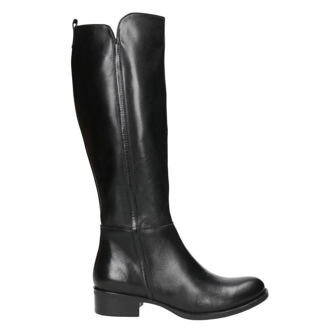 Dámské kožené kozačky bata, černá, 594-6586 - 15