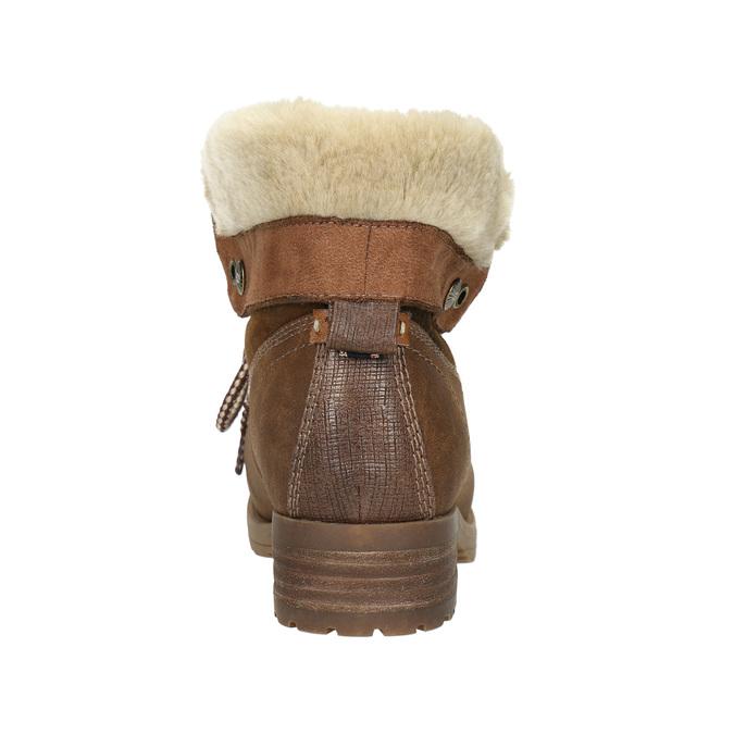 Kotníčková obuv s kožíškem bata, hnědá, 591-4618 - 17