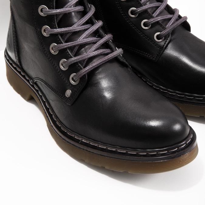 Kožená dámská kotníčková obuv bata, černá, 594-6681 - 14