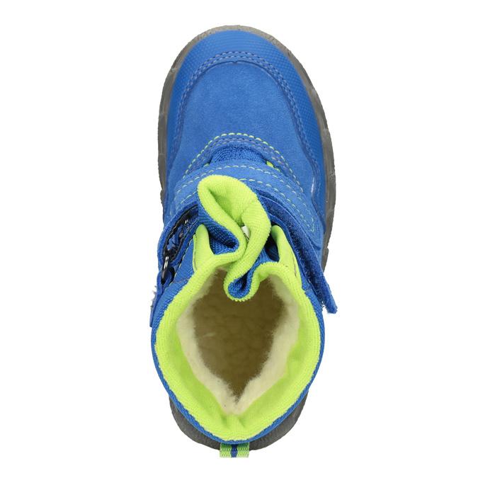 Dětská zimní obuv s výraznou podešví superfit, modrá, 293-9022 - 15