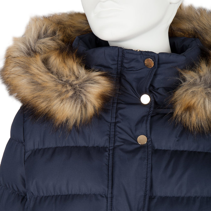 Dámská zimní bunda s kožíškem bata, modrá, 979-9134 - 16