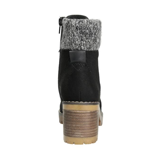 Kotníčková obuv na masivním podpatku bata, černá, 699-6633 - 17
