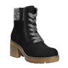 Kotníčková obuv na masivním podpatku bata, černá, 699-6633 - 13