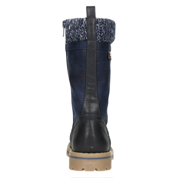 Dívčí zimní obuv s úpletem mini-b, modrá, 391-9657 - 17