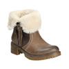 Kotníčková obuv s kožíškem bata, hnědá, 691-2633 - 13