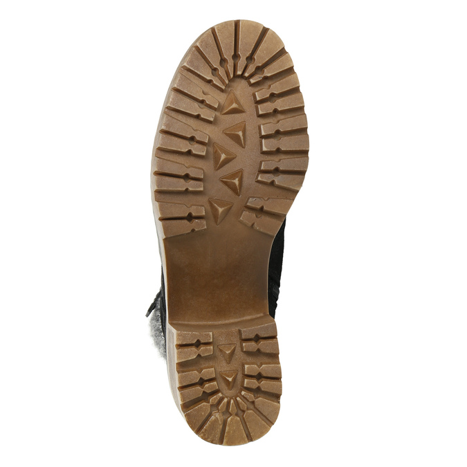 Kotníčková obuv na masivním podpatku bata, černá, 699-6633 - 19