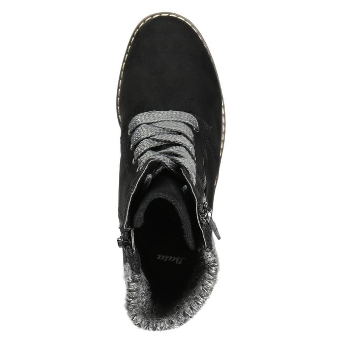 Kotníčková obuv na masivním podpatku bata, černá, 699-6633 - 26