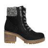 Kotníčková obuv na masivním podpatku bata, černá, 699-6633 - 15