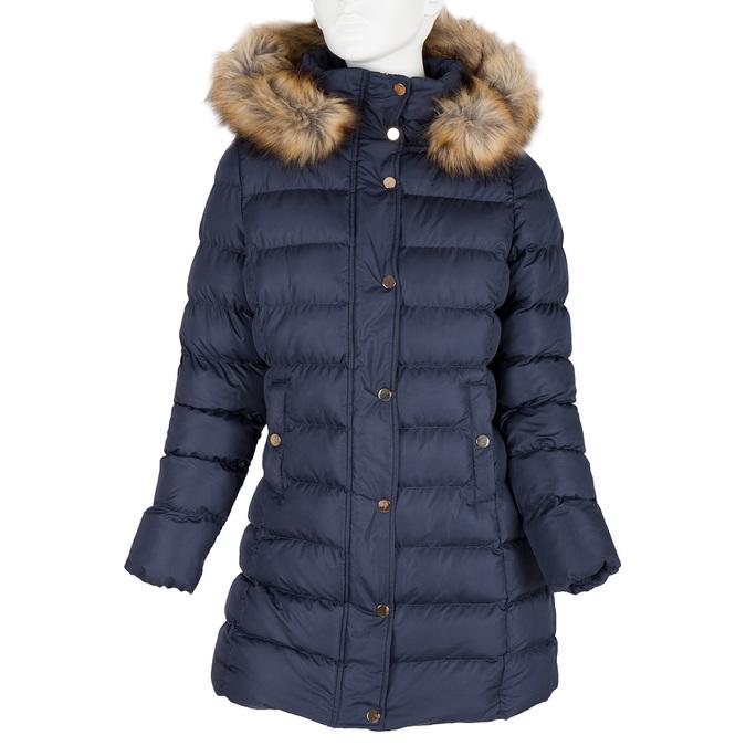Dámská zimní bunda s kožíškem bata, modrá, 979-9134 - 13