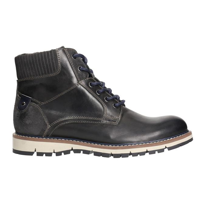 Kotníčková zimní obuv pánská bata, šedá, 896-2657 - 15
