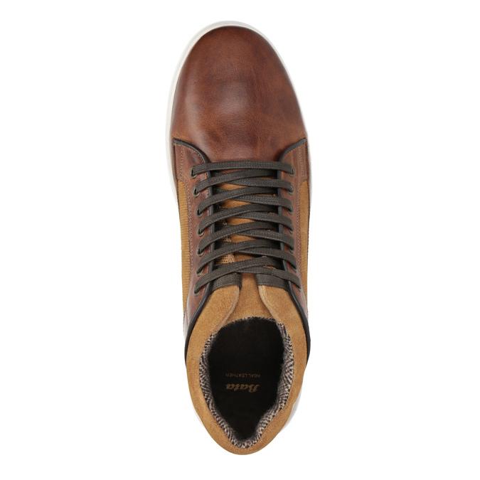 Kožené pánské tenisky bata, hnědá, 846-3643 - 15