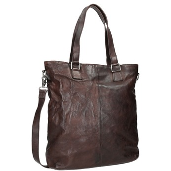 Hnědá kožená kabelka bata, hnědá, 964-4245 - 13