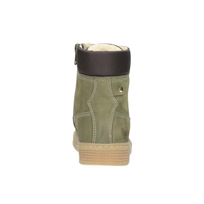 Dětská zimní obuv se zateplením mini-b, zelená, 496-3620 - 16