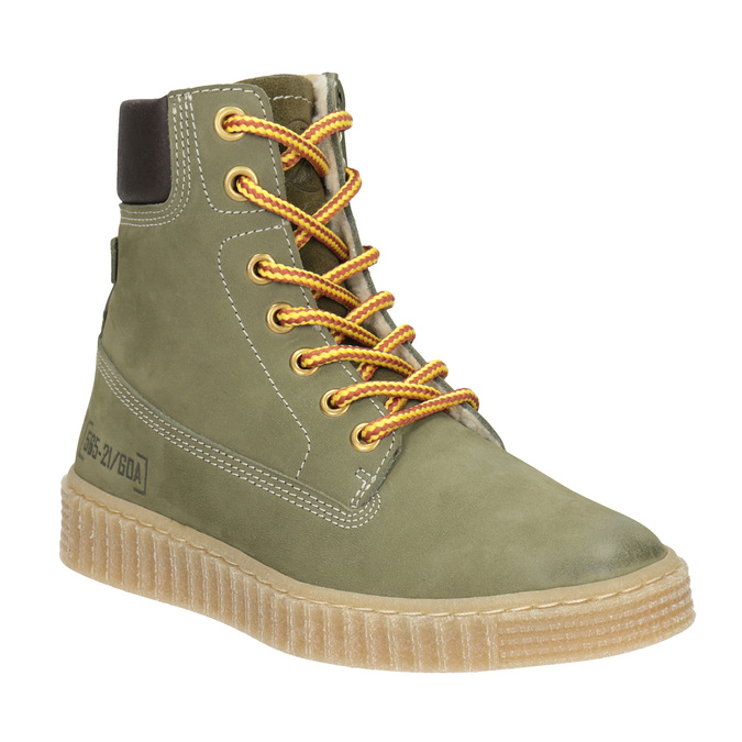 Dětská zimní obuv se zateplením mini-b, zelená, 496-3620 - 13