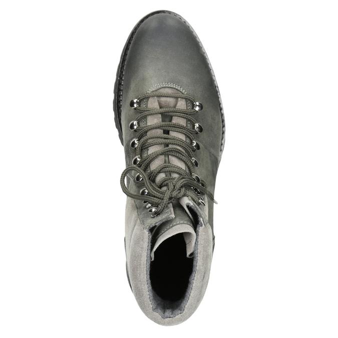 Kotníčková dámská kožená obuv weinbrenner, šedá, 596-2672 - 15