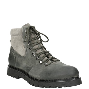 Kotníčková dámská kožená obuv weinbrenner, šedá, 596-2672 - 13