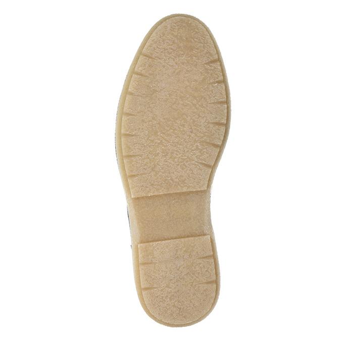 Kožená pánská kotníčková obuv bata, šedá, 896-2669 - 17