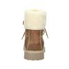 Kotníčková pánská obuv s kožíškem weinbrenner, hnědá, 896-4670 - 16