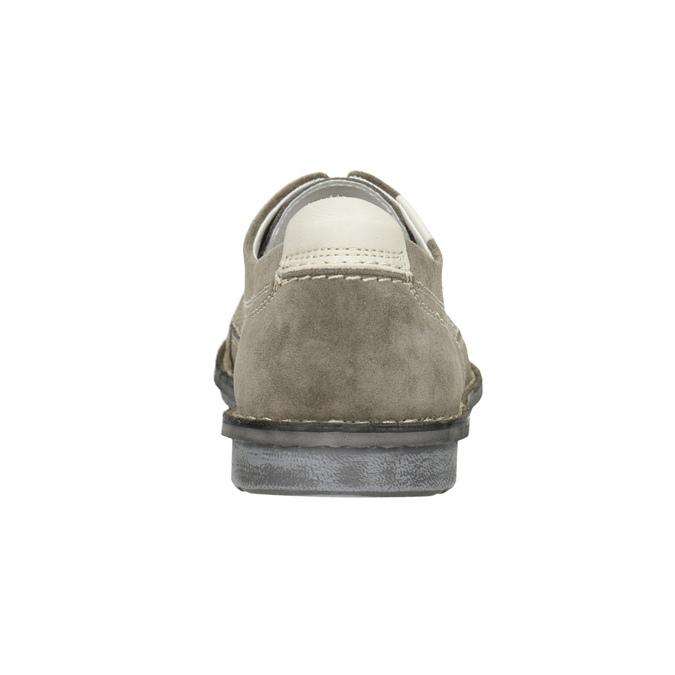 Pánské neformální polobotky z broušené kůže bata, šedá, 853-2612 - 16