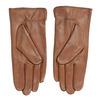 Hnědé kožené rukavice bata, hnědá, 904-3129 - 16