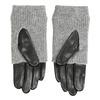 Kožené rukavice se svetrovým detailem bata, šedá, 904-2125 - 16