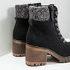 Kotníčková obuv na masivním podpatku bata, černá, 699-6633 - 14