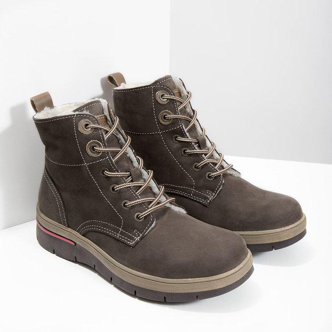 Kožená dámská zimní obuv weinbrenner, hnědá, 596-4666 - 18