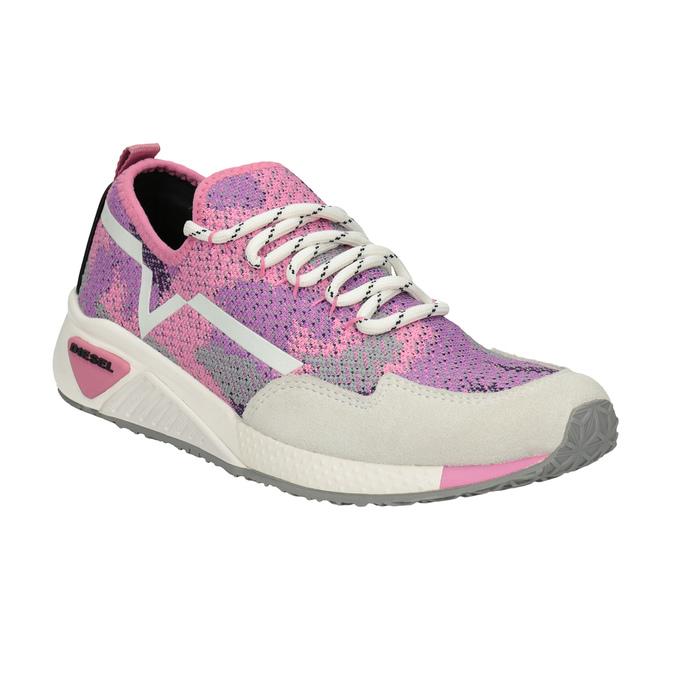 Růžové sportovní tenisky diesel, růžová, 509-5760 - 13