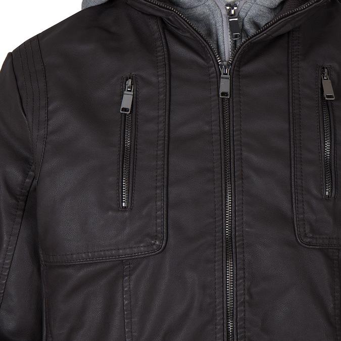 Pánská prošívaná bunda s kapucí bata, hnědá, 971-4126 - 16