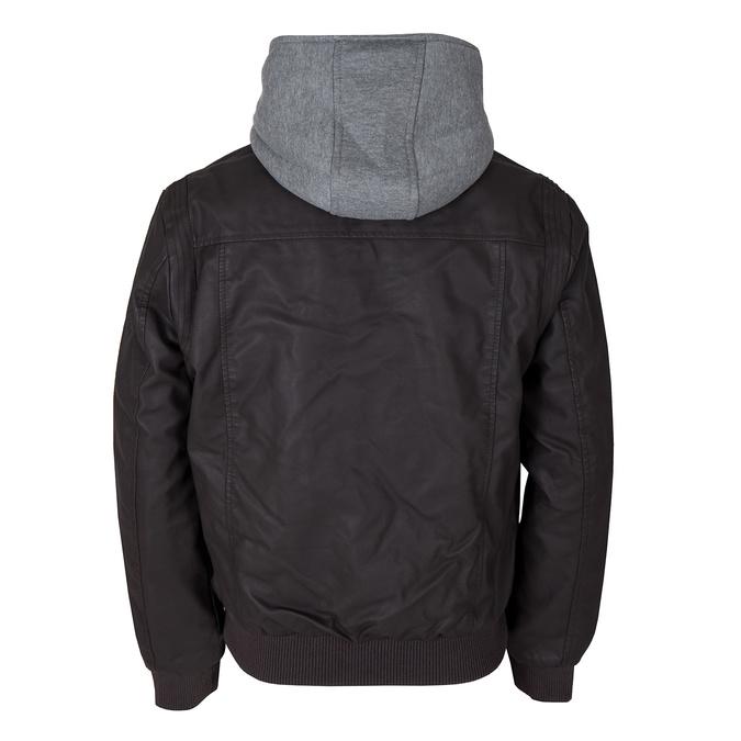 Pánská prošívaná bunda s kapucí bata, hnědá, 971-4126 - 26