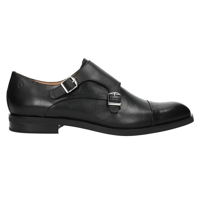 Pánské kožené Monk Shoes vagabond, černá, 814-6023 - 26