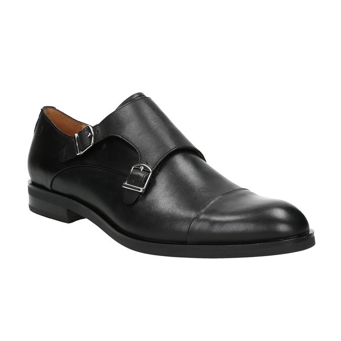 Pánské kožené Monk Shoes vagabond, černá, 814-6023 - 13