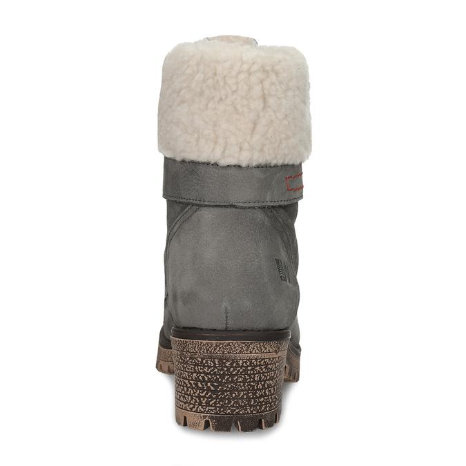 Dámské kozačky s kožíškem weinbrenner, šedá, 696-2168 - 15