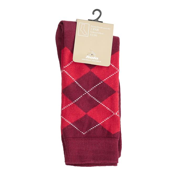 Pánské ponožky s anglickým vzorem bata, červená, 919-5300 - 13