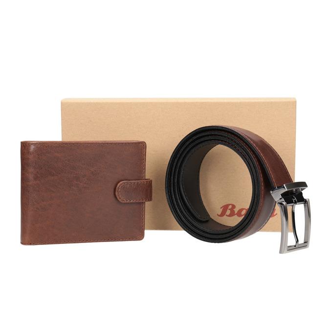 Dárkové balení kožený opasek a peněženka bata, hnědá, 954-4200 - 13