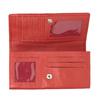 Dámská červená peněženka z kůže bata, červená, 944-3203 - 15
