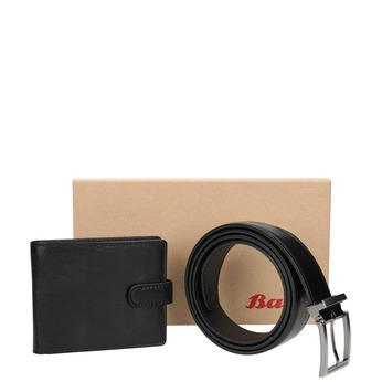 Dárkové balení kožený opasek a peněženka bata, černá, 954-6200 - 13