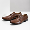 Pánské kožené polobotky hnědé bata, hnědá, 826-3758 - 16
